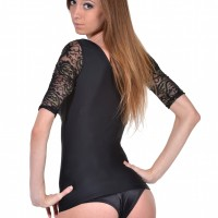 Passion Paisley Lace T-Shape Arm Shaper black back