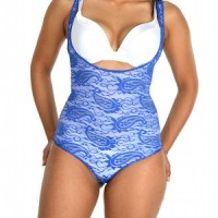 Glamore Body Briefer Thong Shapewear blue front