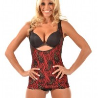 Glamore Cami Shaper – Control Camisole Shapewear red front zoom