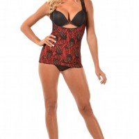 Glamore Cami Shaper – Control Camisole Shapewear red front