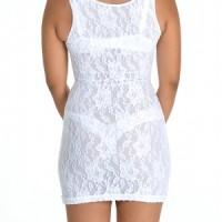 Glamore Firm Control Slip Shapewear white back