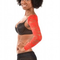 ARMore Classic Passion Flower Arm Shaper red side
