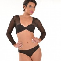 ARMore Secrecy Powernet Arm Shaper – Long Sleeve Arm Shapewear black front