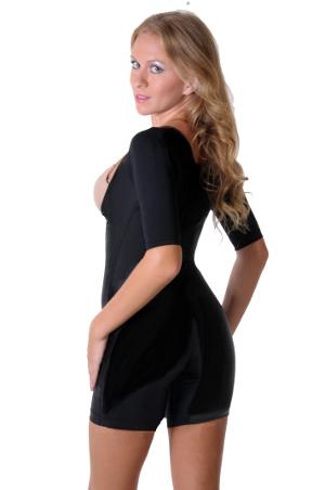 T-Shape Mid-Thigh Arm Control Bodysuit, Arm Shapewear