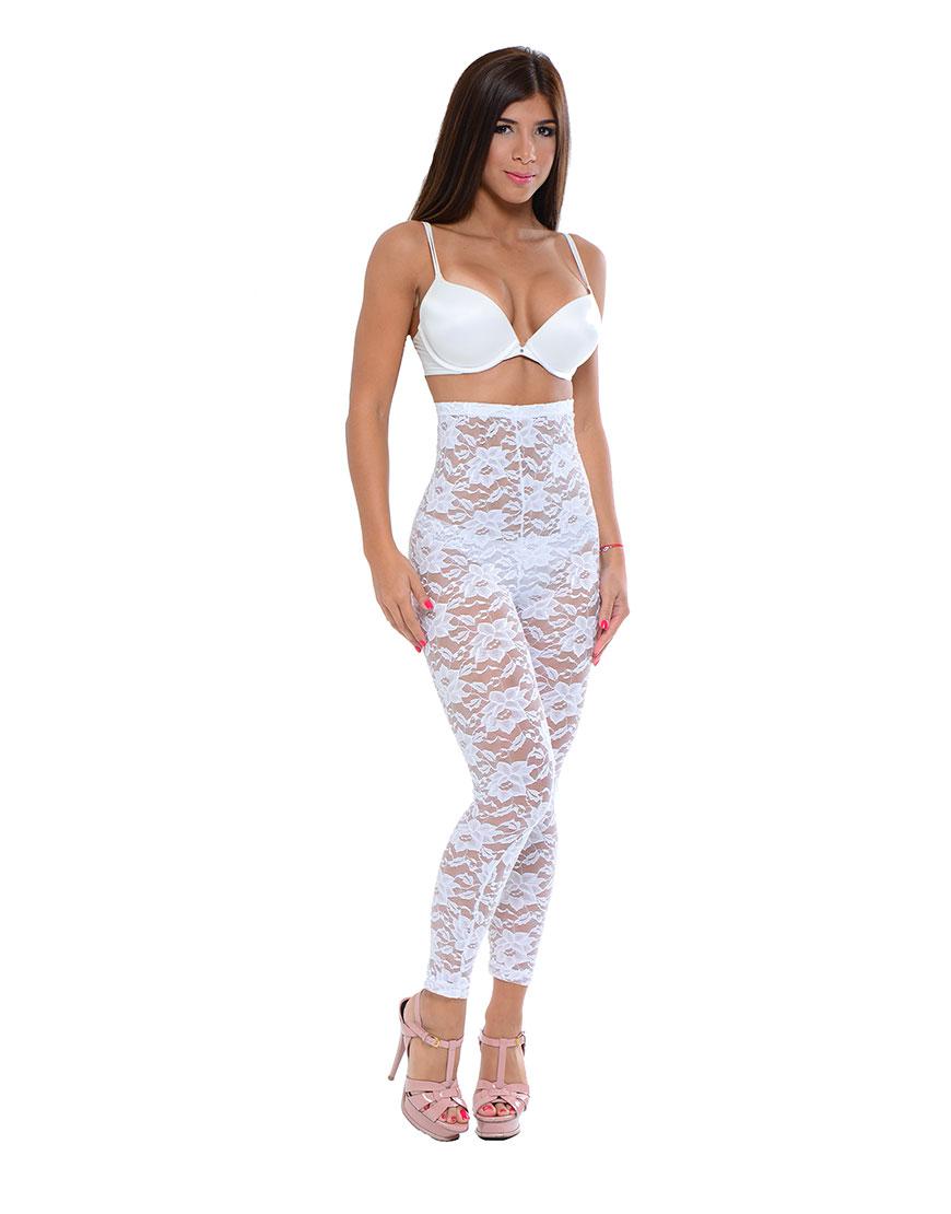 e14a46df91 Passion Flower Lace Bridal High Waist Long Legging Body