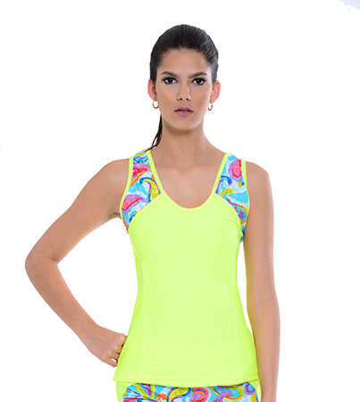 Available now Your Contour Sportika Sportswear Jesty Paisley Top A front small