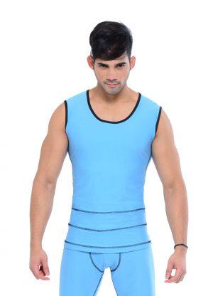 Your-Contour-Sportika-Sportswear-Men-Deco-Stich-Top-Blue-black-front-web
