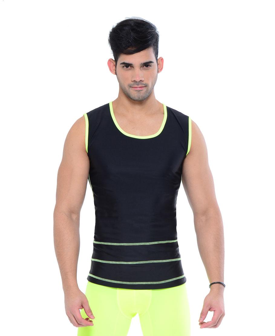 Your-Contour-Sportika-Sportswear-Men-Deco-Stich-Top-black-green-front-web
