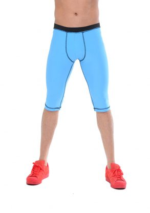 Your-Contour-Sportika-Sportswear-Men-Legging-Blue-deco-stitch-Front-web