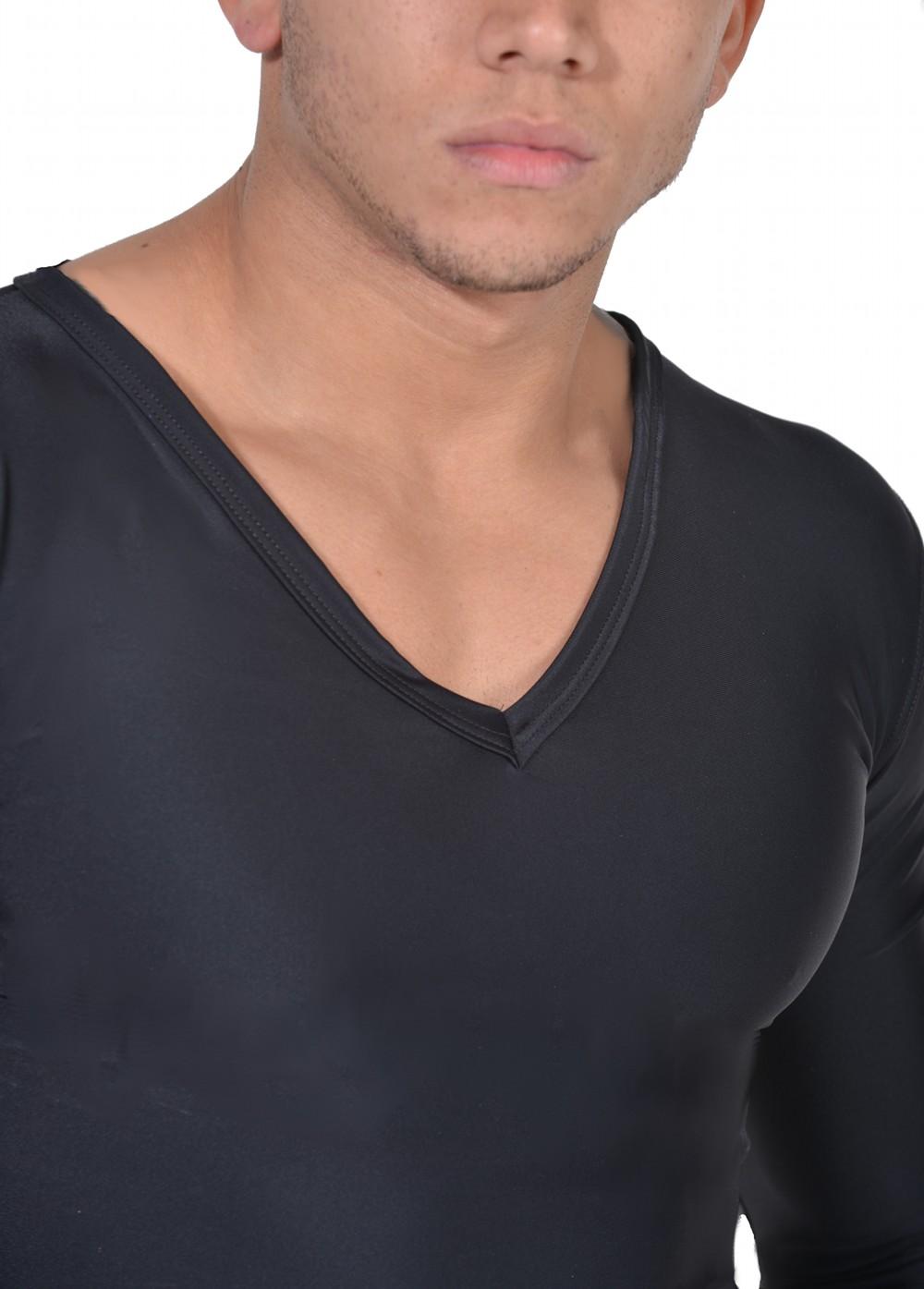 Men's Slimming Undershirt Body Shaper Arm control Shapewear Long Sleeve zoom in