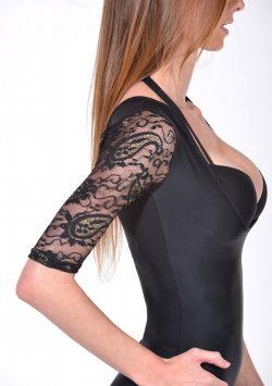 Passion Paisley Lace T-Shape Arm Shaper black side