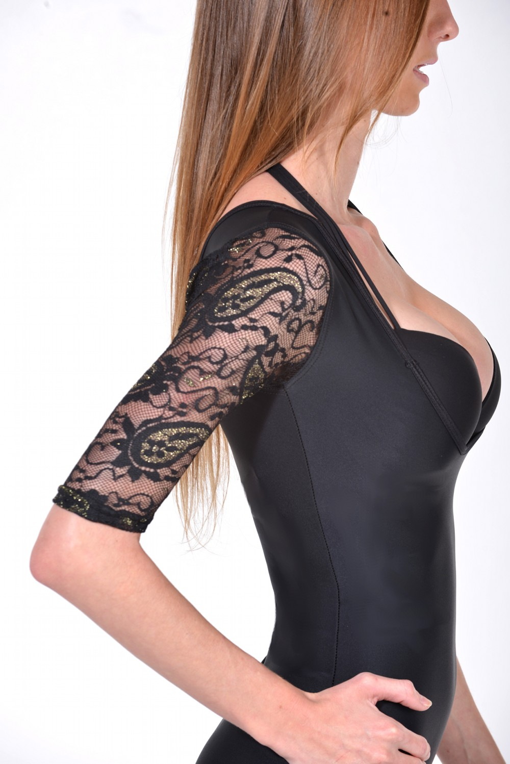 Passion Paisley Lace T-Shape Arm Shaper black side
