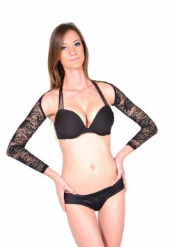 Passion Paisley Lace Arm Shaper black front
