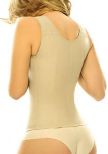 Siluete Victoria Waist Cincher Extra firm Latex Shapewear (Corset) Nude Back