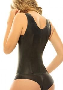 Siluete Victoria Waist Cincher Extra firm Latex Shapewear (Corset) Black Back