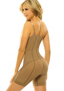 Siluet Capuchina Body Shaper Extra firm Postsurgical Shapewear nude back