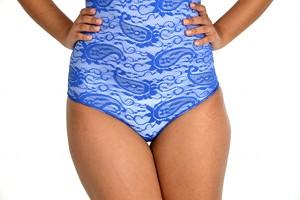 Glamore Body Briefer Thong Shapewear blue bottom