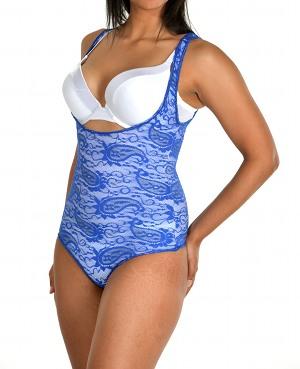 Glamore Body Briefer Thong Shapewear blue side