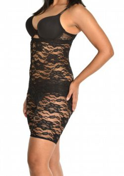 Passion Flower Lace High waist Thigh Slimmer black side