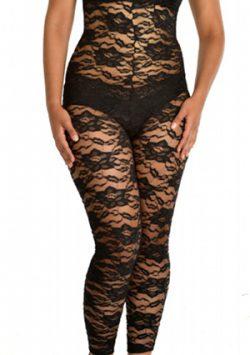 Passion Flower Lace High Waist Long Leg Slimmer