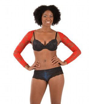 ARMore Classic Passion Flower Arm Shaper red front