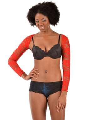 ARMore Classic Passion Flower Arm Shaper red low front