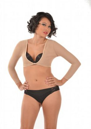 ARMore Secresy Arm Shaper – Long Sleeve Arm Shapewear nude front