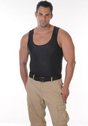Men's Slimming Undershirt Body Shaper black front