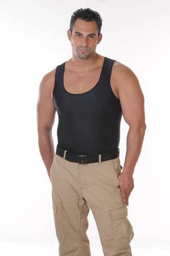 Men's Slimming Undershirt Body Shaper black front