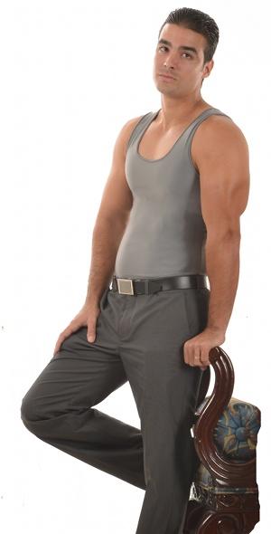 Men's Slimming Undershirt Body Shaper grey side