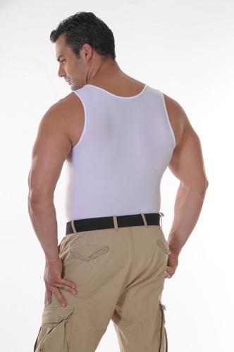 Men's Slimming Undershirt Body Shaper white back
