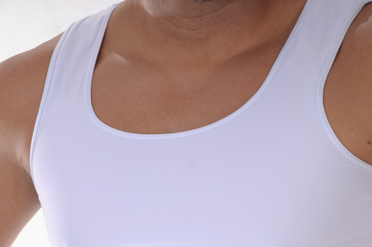 Men's Slimming Undershirt Body Shaper white chest