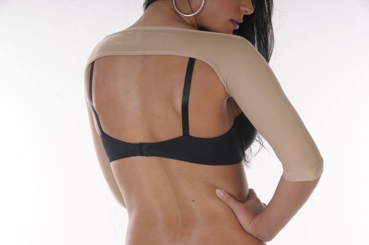 Arm Shaper Velcro – Long Sleeve (Clearance) nude back