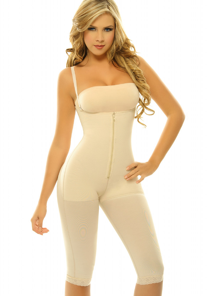 02cba764b1dae ... black side  Siluet Margarita Body Shaper Extra firm Powernet Shapewear  nude front ...